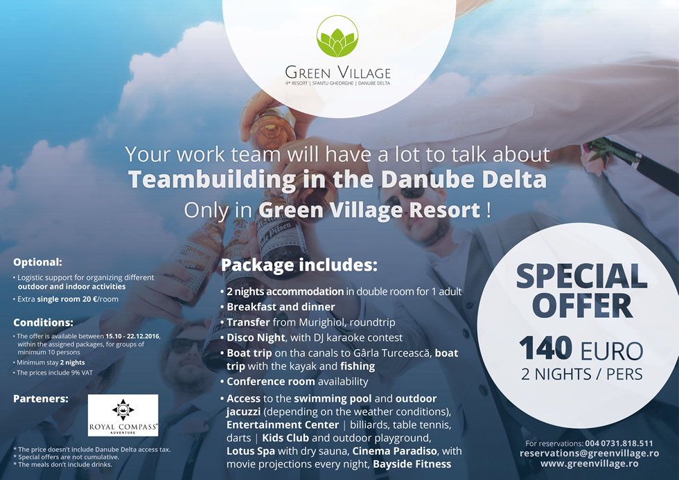 Teambuilding in the Danube Delta